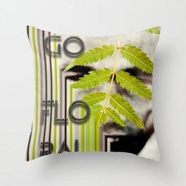 go floral Throw Pillow