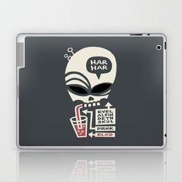 Evel Alein Deth Skul Dirnk Blod Laptop & iPad Skin