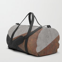 Concrete, Rusted Iron, Marble Abstract Duffle Bag