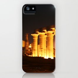 The night and the moon at Temple of Luxor, no. 29 iPhone Case