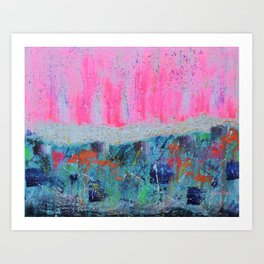 I WILL MEET YOU ON TOP OF THE MOUNTAIN - abstract expressionism original art Art Print
