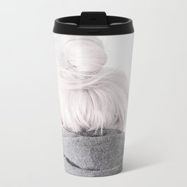 grey hair Metal Travel Mug