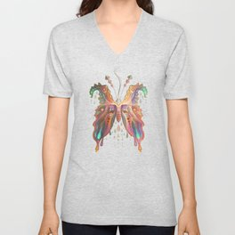 Monarch Butterfly of Spades Unisex V-Neck