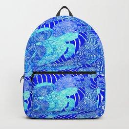 blue sea turtles Backpack