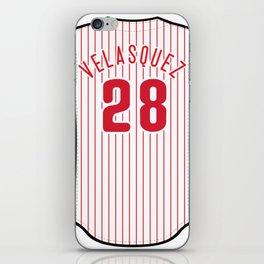 Vince Velasquez Jersey iPhone Skin