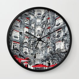 Woman in Paris Wall Clock