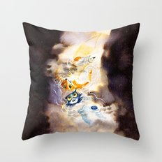 Little Owl Boy and the Milky Way Throw Pillow