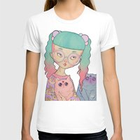 loll3 T-shirts featuring Cat Lady by lOll3
