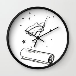 Eye Mask & Yoga Mat [Shut Up & Yoga] Wall Clock