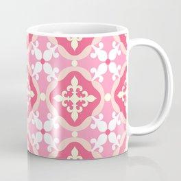 Moroccan tile - pink, red, white Coffee Mug