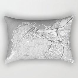 Cape Town Map Line Rectangular Pillow