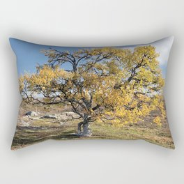 Yellow Tree in the mountains Rectangular Pillow