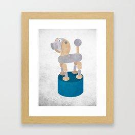 Push up dog print Framed Art Print