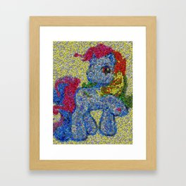 My Little Pony Rainbow Dash made of Skittles Candy Framed Art Print