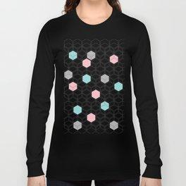 Hexagon nordic pattern Long Sleeve T-shirt