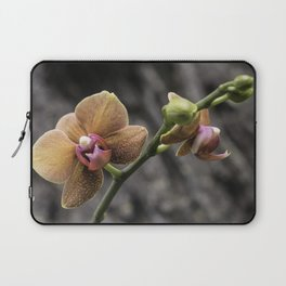 Orange Orchid Laptop Sleeve