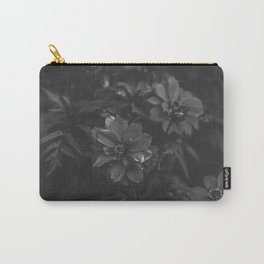 Floral (Black and White) Carry-All Pouch