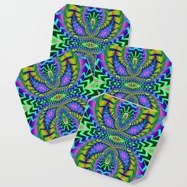 Tribal Rainbow Lotus Coaster