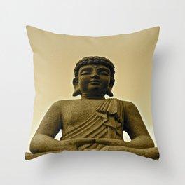 Buddha Prays Throw Pillow