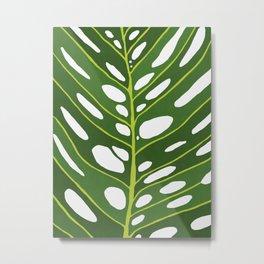 Tropical leaf illustration III Metal Print