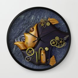 Steampunk Hatchetfish Wall Clock