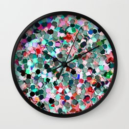 Colorful Sparkles Wall Clock