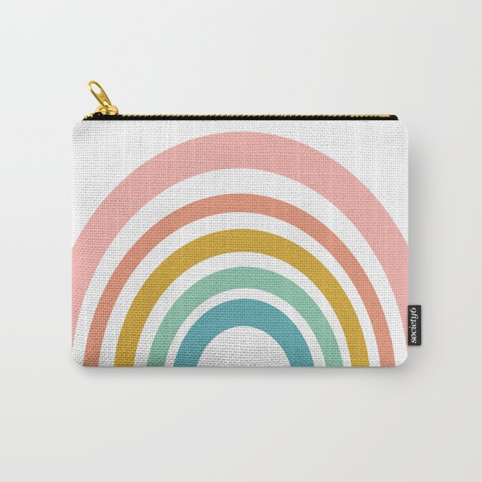 Simple Happy Rainbow Art Carry-All Pouch