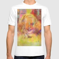 Come listen to a beautiful lie  MEDIUM Mens Fitted Tee White