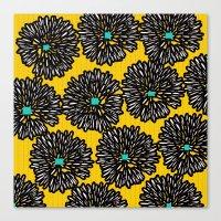 indigo Canvas Prints featuring Indigo by Simi Design