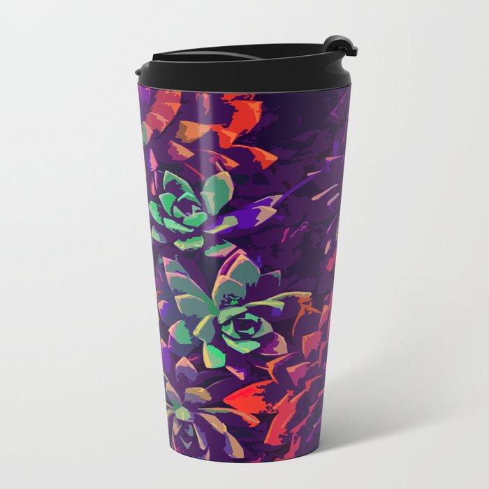 Cali Succulents 3 Metal Travel Mug