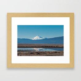 Mt Shasta Reflection Framed Art Print
