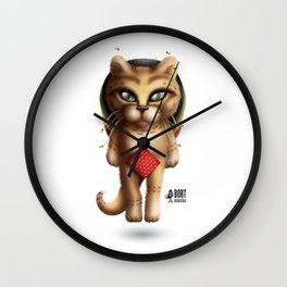 Rastaman Cat Wall Clock