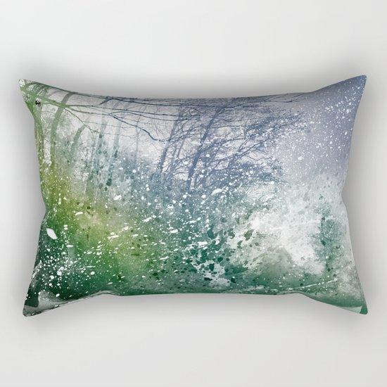 Acrylic Forest Blizzard Rectangular Pillow