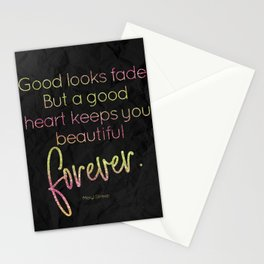 A good heart keeps you beautiful forever - GRL PWR Collection Stationery Cards