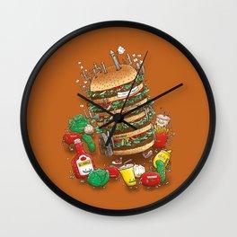 Uber BurgerBot Wall Clock
