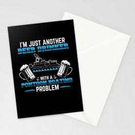 Pontoon Boating Problem | Boat Owner Pontoon Stationery Cards