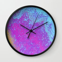 Blue Rush Wall Clock