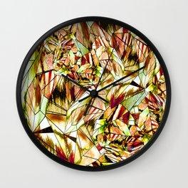 Crystal Yellow Sapphire Gem Stone Wall Clock
