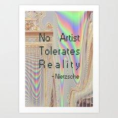 Nietzsche quote Art Print