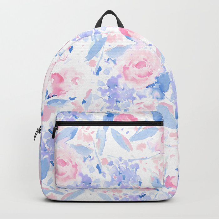 Scattered Lovers Blue on White Backpack