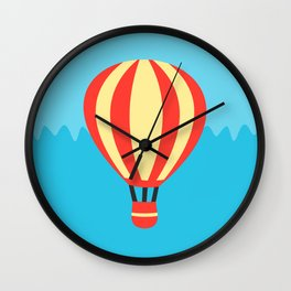 Classic Red and Yellow Hot Air Balloon Wall Clock