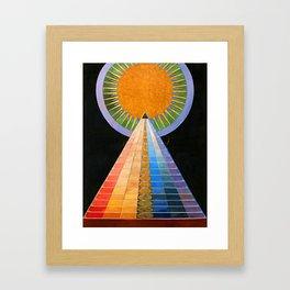 HILMA AF KLINT ALTARPIECE NO 1 RESTORED Framed Art Print