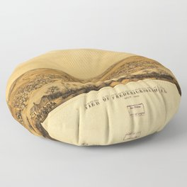 View of Fredericksburg, Virginia (Nov. 1862) Floor Pillow