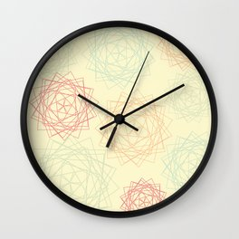 Origami Blooms Wall Clock