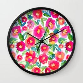 Hot Floral Mess Wall Clock