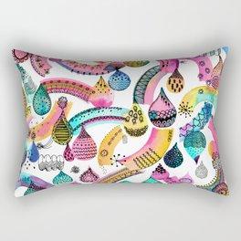 Rainbow lace - Christmas happiness drops Rectangular Pillow
