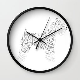 Miniature Schnauzer Wall Art Schnauzer Portrait Wall Clock