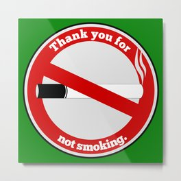 No Smoking Metal Print