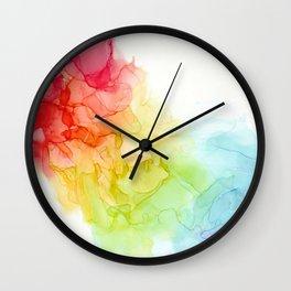 Study in Rainbow Wall Clock