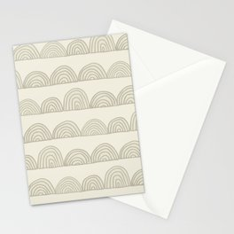 Sketched Rainbows in Cream Stationery Cards